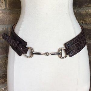Harold's Belt XS Leather Vintage Wide Brown